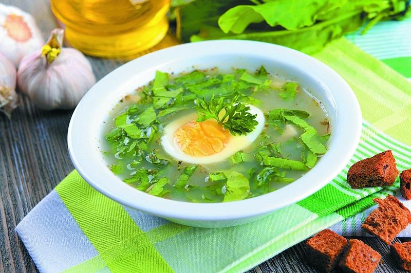 Диетические супы с яйцом