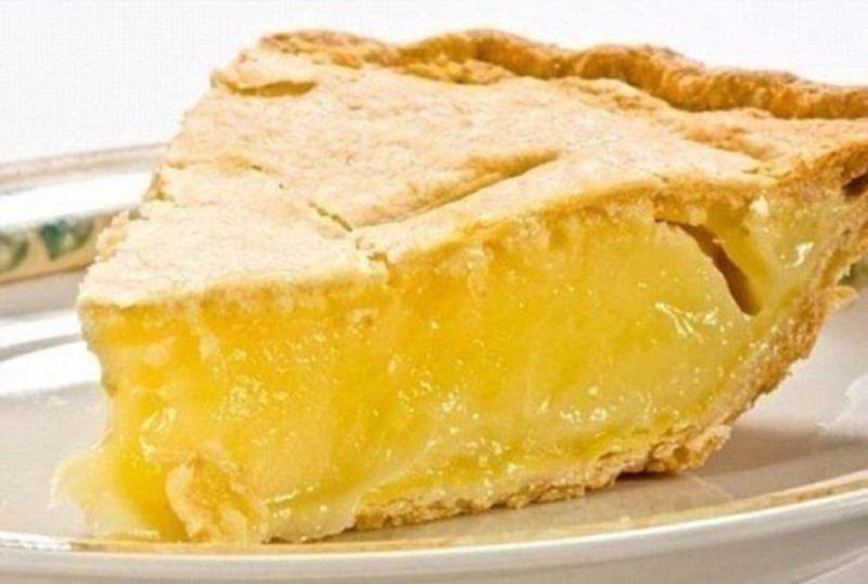 Диетический лимонный пирог фото в разрезе