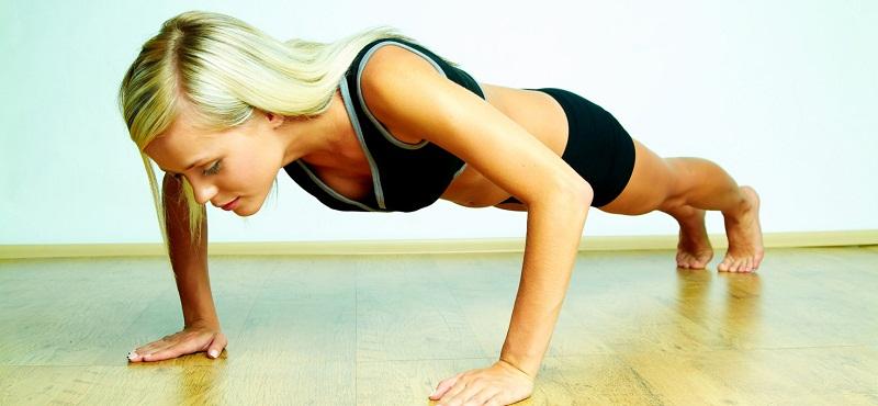 Упражнения для грудных мышц для девушек отжимания